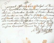 Korespondencja różnych osób z 7 lipca 1760 r.