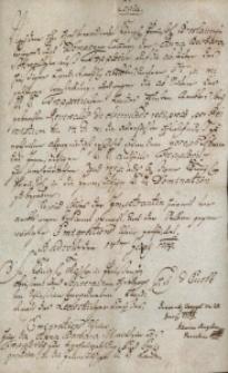 Korespondencja różnych osób z 23 czerwca 1769 r.