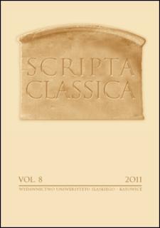Scripta Classica : Vol. 8
