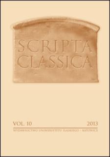 Scripta Classica : Vol. 10