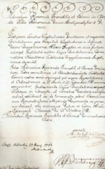 Korespondencja różnych osób z 31 października 1782 r.