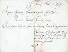 Korespondencja różnych osób z 2 stycznia 1794 r.