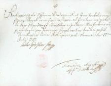 Korespondencja różnych osób z 21 lipca 1797 r.