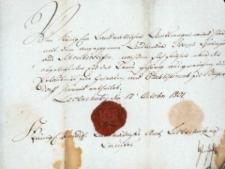 Korespondencja różnych osób z 17 października 1801 r.