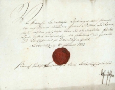 Korespondencja różnych osób z 4 lutego 1802 r.