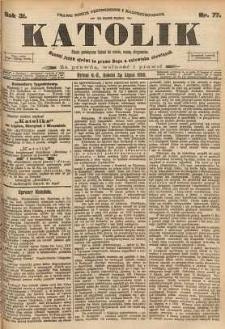 Katolik, 1898, R. 31, nr 77