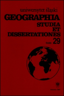 Geographia. Studia et Dissertationes 29