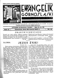 Ewangelik Górnośląski, 1937, R. 6, nr 13