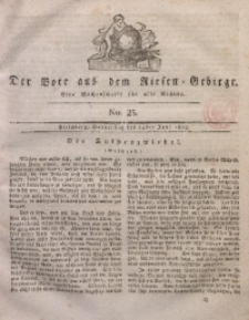 Der Bote aus dem Riesen-Gebirge, 1813, Jg. 1, No. 25