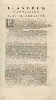 Flandriae Tevtonicae pars orientalior