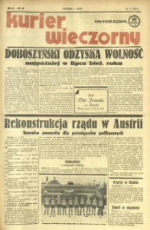 Kurier Wieczorny, 1938, R. 3, nr 46