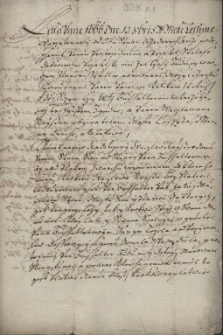 Ugoda z 13.10.1666 r. pomiędzy Pawłem Kalikiem a Wacławem Reissem z Cieszyna w sprawie muru oddzielającego ich sąsiadujące z sobą domy