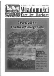 Wiadomości Fary Św. Barbary, R. 10, nr 10 (444), 2004