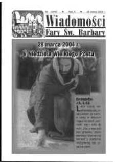 Wiadomości Fary Św. Barbary, R. 10, nr 13 (447), 2004