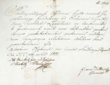 Korespondencja różnych osób z 29 kwietnia 1805 r.
