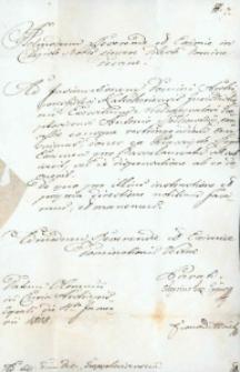 Korespondencja różnych osób z 11 stycznia 1808 r.