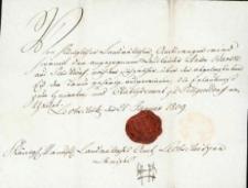 Korespondencja różnych osób z 21 stycznia 1809 r.