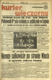 Kurier Wieczorny, 1938, R. 3, nr 332