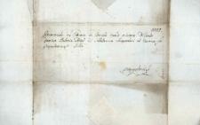 Korespondencja różnych osób z 28 października 1811 r.