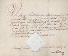 Korespondencja różnych osób z 24 października 1812 r.