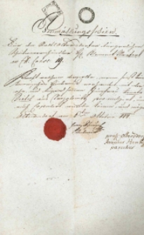 Korespondencja różnych osób z 6 października 1814 r.