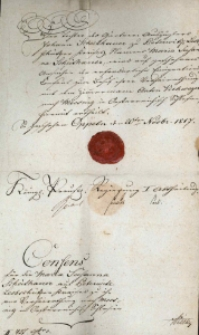 Korespondencja różnych osób z 20 listopada 1817 r.