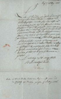 Korespondencja różnych osób z 24 sierpnia 1820 r.