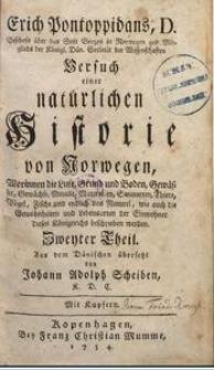 Erich Pontoppidans, D. Bischofs über das Stift Bergen in Norwegen [...] Versuch einer natürlichen Historie von Norwegen [...] 2. Th.