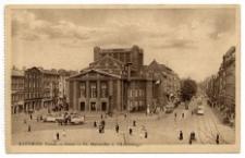 Katowice. Rynek – Teatr – Ul. Marszałka J. Piłsudskiego