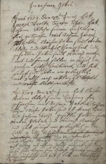 Protokol swobozeny aneb za towarissuw przygimani a pocztiwemu rzemeslu a czehu klobucznitzkemu A[nno] 1754