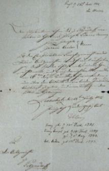 Korespondencja różnych osób z 28 lipca 1822 r.