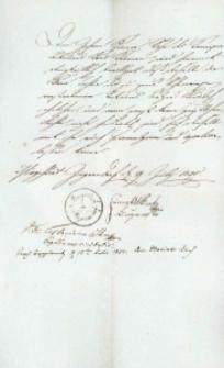Korespondencja różnych osób z 9 lipca 1825 r.