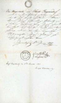Korespondencja różnych osób z 3 stycznia 1827 r.