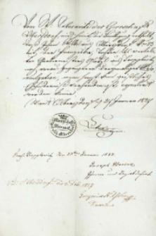 Korespondencja różnych osób z 28 stycznia 1827 r.