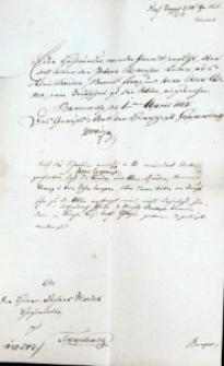Korespondencja różnych osób z 1 kwietnia 1828 r.