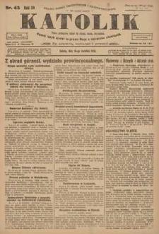 Katolik, 1923, R. 56, nr 45