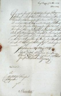 Korespondencja różnych osób z 19 maja 1829 r.