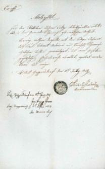 Korespondencja różnych osób z 11 lipca 1829 r.