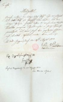Korespondencja różnych osób z 29 sierpnia 1830 r.