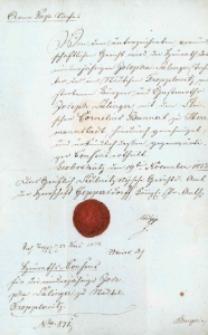 Korespondencja różnych osób z 19 listopada 1833 r.