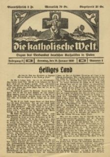 Die Katholische Welt, 1930, Jg. 5, Nr. 3