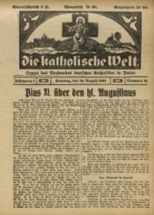 Die Katholische Welt, 1930, Jg. 5, Nr. 34
