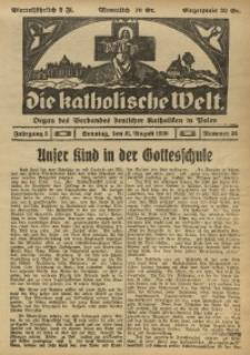 Die Katholische Welt, 1930, Jg. 5, Nr. 35