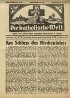 Die Katholische Welt, 1930, Jg. 5, Nr. 47