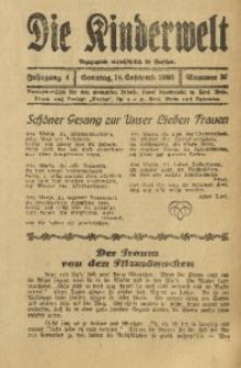 Die Kinderwelt, 1930, Jg. 4, Nr. 37