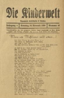 Die Kinderwelt, 1930, Jg. 4, Nr. 46