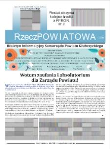 Rzecz Powiatowa : biuletyn informacyjny Samorządu Powiatu Głubczyckiego 2019, nr 3.