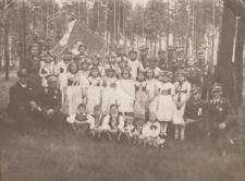 Członkowie Związku Powstańców Śląskich w trakcie uroczystości poświęcenia sztandaru najprawdopodobniej w Piekarach Śląskich