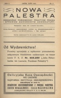 Nowa Palestra, 1937, R. 5, nr 2