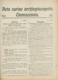 Acta Curiae Archiepiscopalis Olomucensis 1920, nr 13.